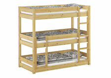 Dreier-Etagenbett Stockbett für 3 für Erwachsene 90x200 Kiefer Massiv V-60.03-09