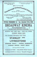 1939/40 Peterborough United v Royal Navy Depot, friendly (result 15-2), PERFECT