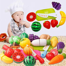 Plastic Fruit Vegetable Food Pretend Reusable Role Play Cutting Set Gift Quality
