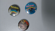 Rainbow metal music buttons vintage SMALL BUTTON set