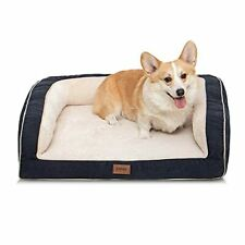 Emme Dog Bed for Small Me 00006000 dium and Large Dogs Orthopedic Dog Beds with Plush F.