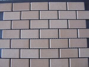 BRICK MOSAIC IN LIGHT SAND (GELSOMINO 07) - JOB LOT OF 20 SHEETS. (PRICE DROP)
