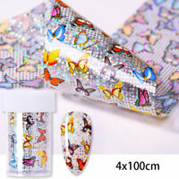 Nail Foils Colorful Butterfly Nail Art Transfer Stickers Decals Decoration Paper
