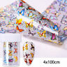 Nail Foils Colorful Butterfly Transfer Stickers Decals Decoration Nail Art Decor