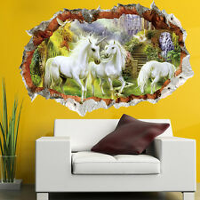 UK Beautiful Unicorn Horse Vinyl Mural Home Decor Wall Art Decal Sticker Modern