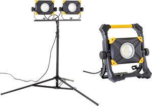LED Baustrahler Arbeitsstrahler 100W / 200W mit Steckdose stufenlos dimmbar