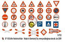 Peddinghaus 1/72 German Early Traffic Signs (33 signs) [Water slide Decal] 1925