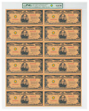 (2018) $10,000 Gold Certificate Smithsonian Edition 1934 Sheet PMG GEM SKU56414