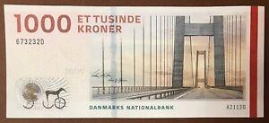 DENMARK 1000 Kroner 2011 Østerrenden Bridge sign.Nielsen & Sørensen P-62a(2) UNC