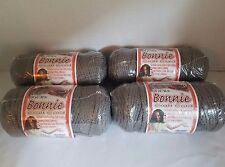 Lot of 4 rolls of Smoke Gray 4mm Bonnie Braid Braided Macrame Craft Cord 400yds