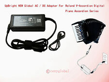 AC Adapter For Roland V-Accordion Bass Digital Piano Accordion Boss Power Supply