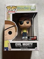Rick & Morty; Evil Morty Funko Pop #141; Gamestop Exclusive; Has Some Box Flaws
