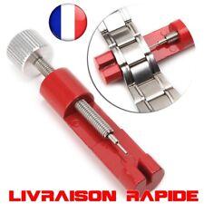 Réglage Bracelet Montre Métal Réglable Lien Remover Outil Réparation Kit Rouge