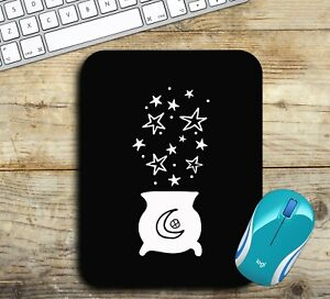 Witches Cauldron with Stars Mouse Pad Easy Glide Non Slip Neoprene - Gift Ideas