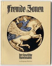 Fremde Zonen. Der deutsche Spielmann. 4 Chromotafeln von Hans Volkert, 1923.