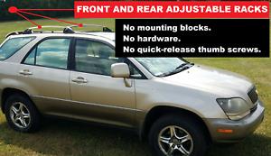 OEM Luggage Rack, Adjustable Rails (Each), Lexus RX300 1999 2000 2001 2002 2003