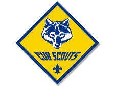 4x4 inch Diamond Shaped CUB SCOUTS Logo Sticker - scout scouting emblem insignia