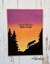Gina Marie designs metal cutting dies - Mountain Lion scene