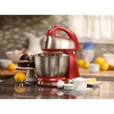 Hamilton Beach Classic Hand Stand Mixer Home Kitchen Baking Dough Stainless Red