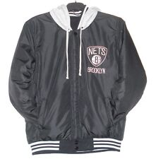 Size XXXL NBA Brooklyn Nets Reversible Fleece Jacket  With Removable Hoodie 3XL