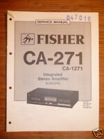Service-Manual Fisher CA-271/1271  Amplifier, ORIGINAL!