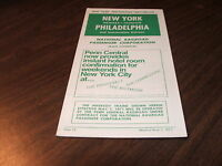 MAY 1971 PENN CENTRAL FORM 12 NEW YORK TO PHILADELPHIA AMTRAK START-UP ISSUE