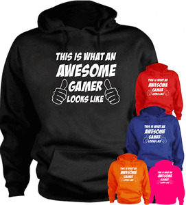 This Is What An Awesome Gamer Looks Like Funny New Hoodie Gift