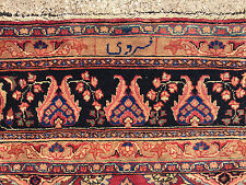 9x12 Hand Knotted Persian Iran Area Rug Woven Wool rugs 9 x 12 antique 10 13 red