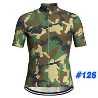 Short Sleeve Bicycle Clothes Cycling Shirt Military Shirt Jersey MTB Bib Camo