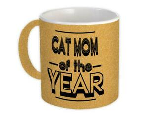 Gift Mug : CAT MOM of The Year Christmas Birthday Secret Santa Idea