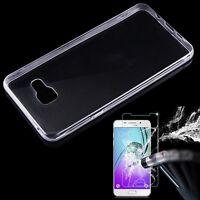 0.3mm Funda Carcasa Silicona&Protector de Pantalla Cristal Templado Para Samsung