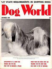 Vintage Dog World Magazine September 1959 Lhasa Apso Cover