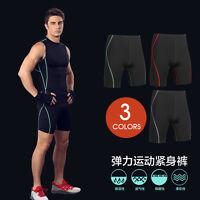 Mens Sports Fitness Gym Compression Shorts Under Base Layer Tights Shorts Pants