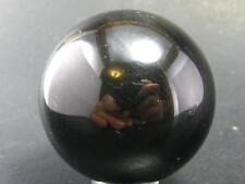 "NICE BLACK OBSIDIAN SPHERE BALL FROM ARMENIA - 1.5"" - 75 GRAMS"