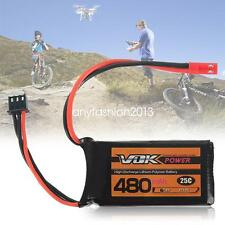 2S 7.4V 480mAh 25C Lipo Battery Pack Universal JST For RC Drone Quadcopter