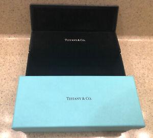 Tiffany & Co. Small Leather Flip Eye Glass Case + Box