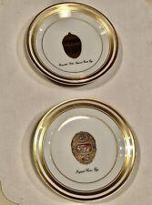 New ListingTwo Faberge China Imperial Egg Enameled 6� Bread Plates Enameled Gold & Cameo