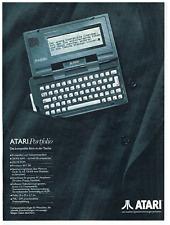 Atari Portfolio. Original-Werbeanzeige 1989. Reklame Werbung.