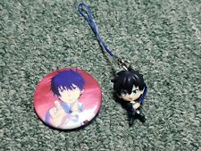 Ao No Exorcist- Rin Okumura- Can Button Badge & Figure Strap- Import