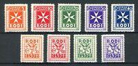 Ägäische Inseln Portomarken MiNr. 1-9 postfrisch MNH (W353