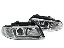 99 00 01 AUDI A4/S4 B5 1-PIECE CHROME EURO PROJECTOR HEADLIGHT REPLACEMENT KIT