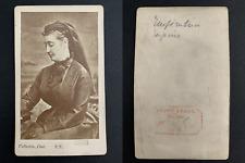 Vallantin, Paris, Impératrice Eugénie  CDV vintage albumen print. Tira