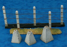 Alliance Model Works 1:35 Concrete Poles Barbed Wire Dragon Teeth #LW35044