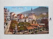 Postkarte Ansichtskarte Karlsbad Marktbrunnen
