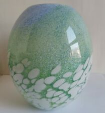 More details for vintage art house glass vase (approx 18 cm).
