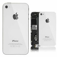 White iPhone 4G Back Battery Cover Glass Plate Housing Replacement glass