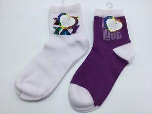 New Pride Rainbow LGBT Socks UNISEX 2 Pair New