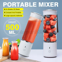 AUGIENB Portable Glass Personal Blender Juicer Maker Juice Cup Mixer USB Travel