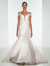 BRAND NEW! Kenneth Pool Mikayla K492 Wedding Dress Ivory Fit Flare 6 $5K