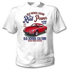 VINTAGE Francese AUTO RENAULT ALPINE A110 Real Power-Nuova T-shirt di cotone